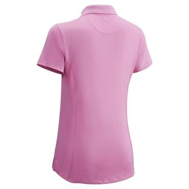 Callaway Girls Micro Hex Solid Polo Shirt Pink