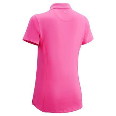 Callaway Junior - Girls Micro Hex Solid Polo Shirt Raspberry Sorbet