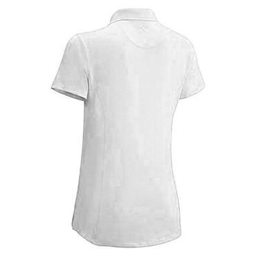 Callaway Girls Micro Hex Solid Polo Shirt White