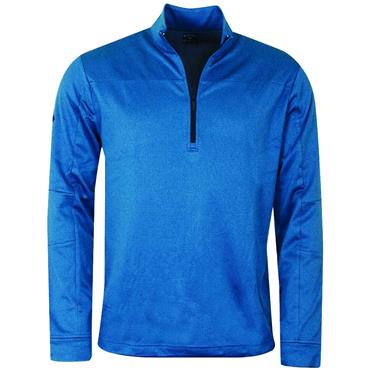 Callaway Gents Pieced Waffle ¼ Zip Pullover Deep Dive Heather
