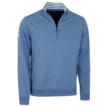 Callaway Gents Full Zip Baby French Terry Pullover Peacoat