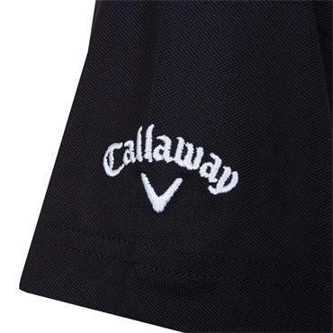 Callaway Gents Essential Core Colour Blocked Pique Polo Shirt Caviar