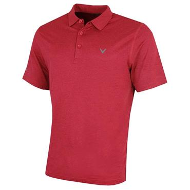 Callaway Gents Heathered Polo Shirt Tango Red