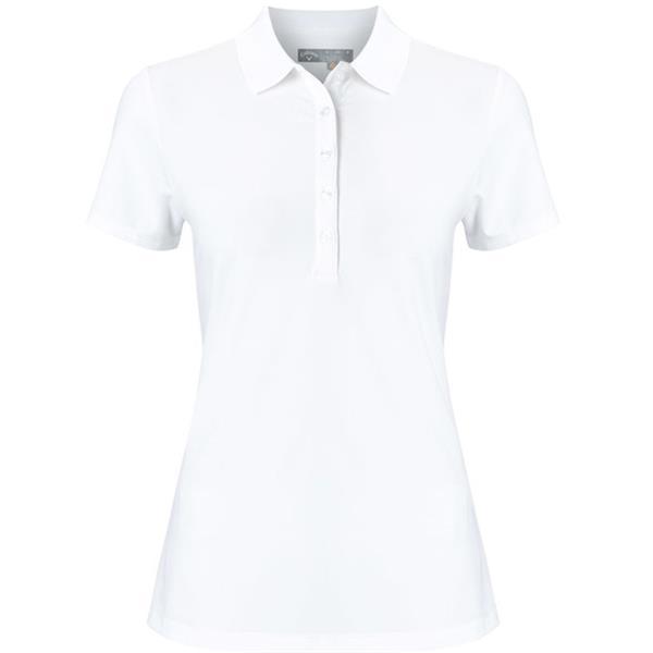 Callaway Ladies Core Micro Hex Polo Large White 100