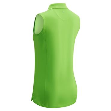 Callaway Ladies Sleeveless Opti-Dri Micro Hex Polo Shirt Green