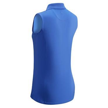 Callaway Ladies Core Micro Hex Sleeveless Polo Shirt  Amparo Blue