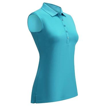Callaway Ladies Core Micro Hex Sleeveless Polo Shirt  Blue (441)