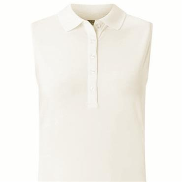 Callaway Ladies Core Micro Hex Sleeveless Polo Shirt  White (123)
