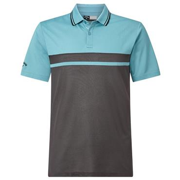 Callaway Gents Colour Blocked Pique Polo Shirt Delphinium Blue