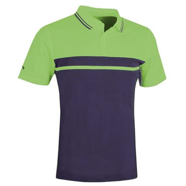 Callaway Gents Colour Blocked Pique Polo Shirt Jade