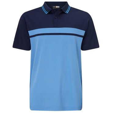 Callaway Gents Colour Blocked Pique Polo Shirt Marina