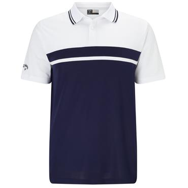 Callaway Gents Colour Blocked Pique Polo Shirt Peacoat
