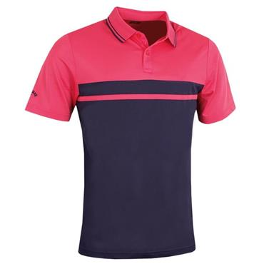 Callaway Gents Colour Blocked Pique Polo Shirt Raspberry