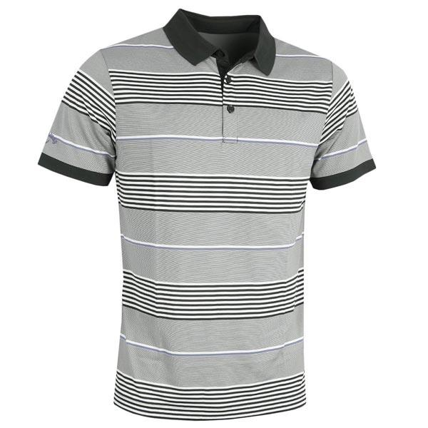 78c9287a1 Callaway Gents 3-Stripe Block Polo Shirt Caviar | Golf Store