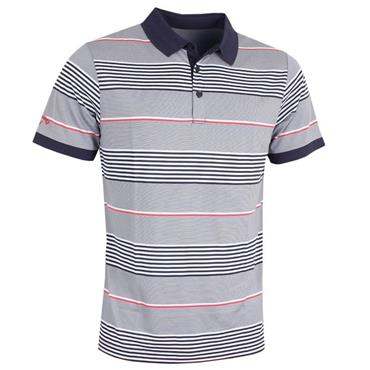 Callaway Gents 3-Stripe Block Polo Shirt Peacoat