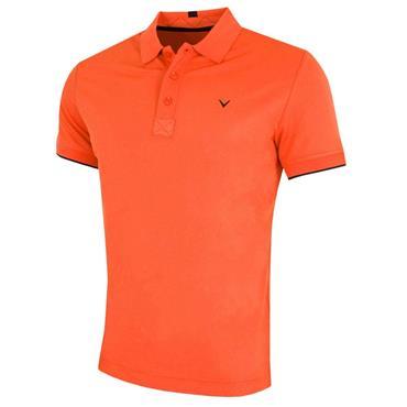 Callaway Gents Hex Opti Stretch Polo Shirt Firecracker