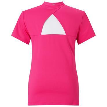 17ae458174505 ... Callaway Ladies Sketchy Floral Polo Shirt Pink