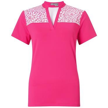 Callaway Ladies Sketchy Floral Polo Shirt Pink