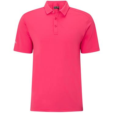 Callaway Gents Hex Opti Stretch Polo Shirt Raspberry