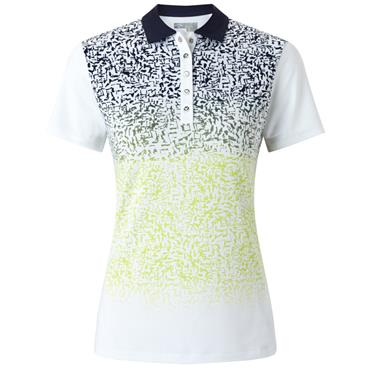 Callaway Ladies Ombre Splash Polo Shirt White
