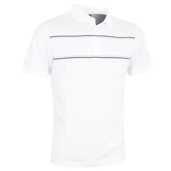 e6919b70 Callaway Gents Yarn Dyed Engineered Vent Polo Shirt White   Golf Store