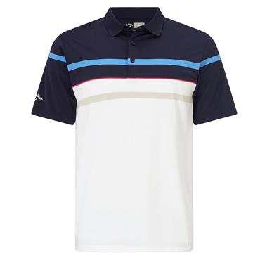 Callaway Gents Yarn Dyed Stretch Road Map Polo Shirt Peacoat