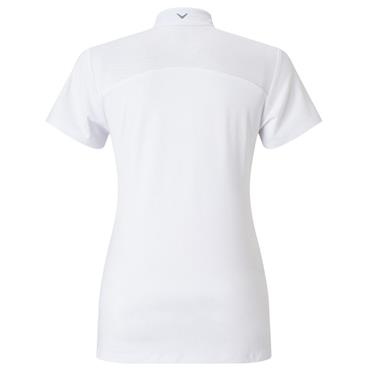 Callaway Ladies Ventilated Kaleidoscope Mock Polo Shirt  White