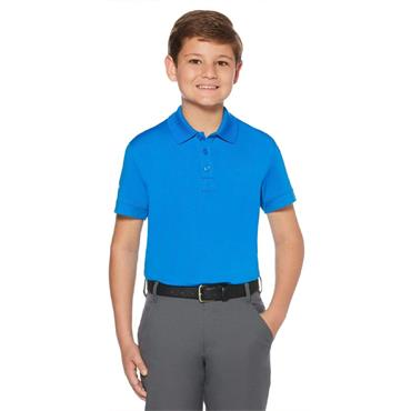 Callaway Junior - Boys Micro Hex Polo Shirt Electric Blue