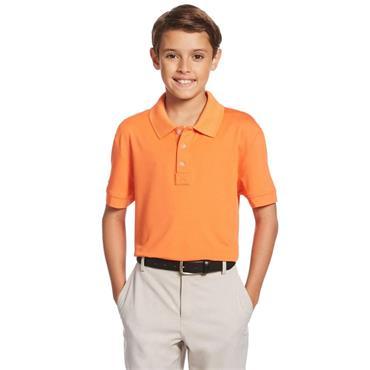 Callaway Junior - Boys Micro Hex Polo Shirt Firecracker