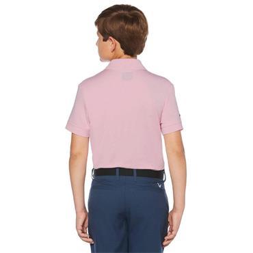 Callaway Junior - Boys Micro Hex Polo Shirt Pink