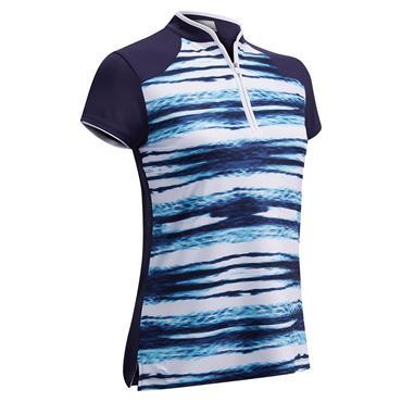 Callaway Ladies Water Printed Polo Shirt Peacoat
