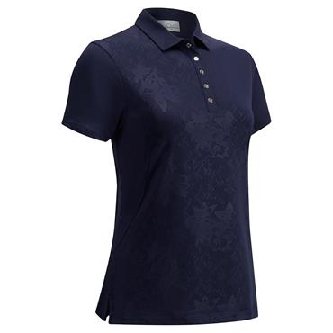Callaway Ladies Embossed Floral Polo Shirt Peacoat