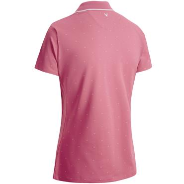 Callaway Ladies All Over Chevron Polo Rose