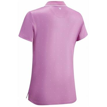 Callaway Ladies Chevron Polka Dot Polo Shirt Pink