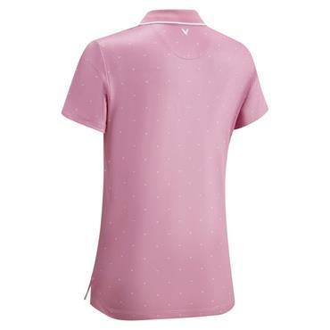 Callaway Ladies Chevron Polka Dot Polo Shirt Peacoat