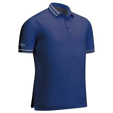 Callaway Gents Block Texture Polo Shirt Medieval Blue