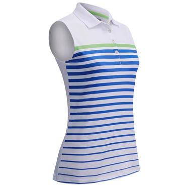 Callaway Ladies Sleeveless Stripe Polo Shirt White