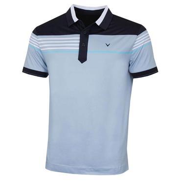 Callaway Gents X Chest Stripe Chest Polo Shirt Blue