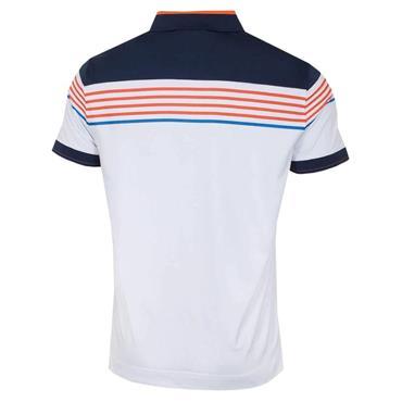 Callaway Gents X Chest Stripe Chest Polo Shirt White