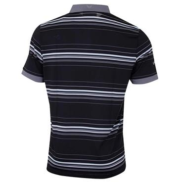 Callaway Gents Euro 3 Colour Stripe Polo Shirt Caviar