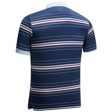 Callaway Gents Euro 3 Colour Stripe Polo Shirt Medieval Blue