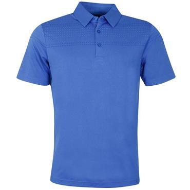 Callaway Gents Birdseye Box Jacquard Polo Shirt Blue