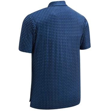 Callaway Gents Box Print Polo Shirt Medieval Blue