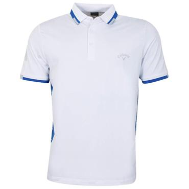 Callaway Gents Modern Colour Block Polo Shirt White