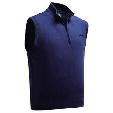 Callaway Gents French Terry 1/4 Zip Vest Peacoat