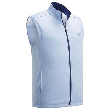 Callaway Gents High Gauge Fleece Full Zip Adjustable Sleeveless Vest Blue