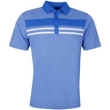 Callaway Gents Yarn Dye Chest Stripe Polo Shirt Blue