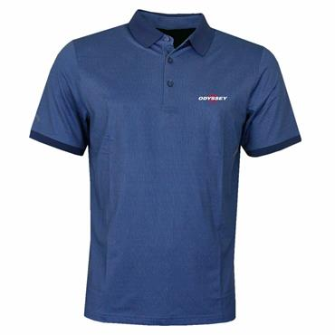 Callaway Gents Mini Print Polo Shirt Blue