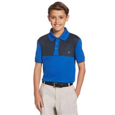 Callaway Junior - Boys Colour Block Polo Shirt Lapis Blue