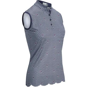Callaway Ladies Flamingo Sleeveless Polo Peacoat